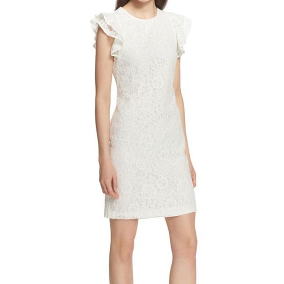 0226fad4 Tommy Hilfiger Dresses | White Essentials Lace Sheath Dress | Poshmark